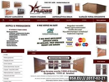 Zrzut strony Garaże blaszane, bramy garażowe: Firma KUBAS