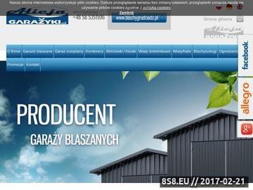Zrzut strony Kontenery, ogrodzenia budowlane - producent garaży blaszanych