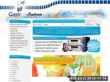 Zrzut strony G-CENTER importer urządzeń gastronomicznych