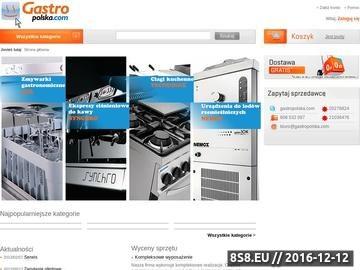 Zrzut strony Gastropolska.com - wyposażenie restauracji, hoteli i gastronomii