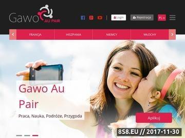 Zrzut strony GAWO Au Pair