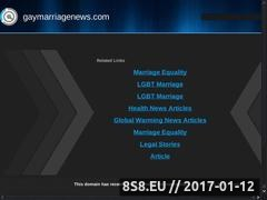 Thumbnail of Gay Marriage Website