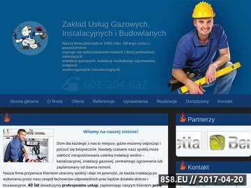 Zrzut strony Instalacje gazowe, sanitarne, centralne ogrzewanie - GazInstal.net