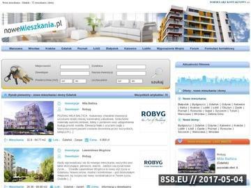 Zrzut strony Nowe mieszkania Gdańsk
