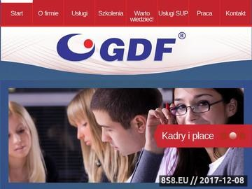 Zrzut strony GDF SP. Z O.O. usługi rachunkowe