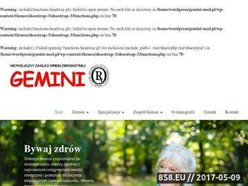 Zrzut strony Badania prenatalne Kraków - Gemini sp. z o.o.