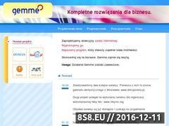 Miniaturka domeny www.gemme.pl