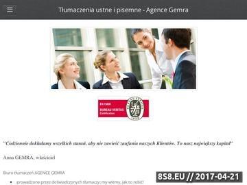 Zrzut strony Gemra - tłumacz przysięgły Warszawa