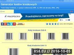 Miniaturka domeny www.generatorkodowkreskowych.pl