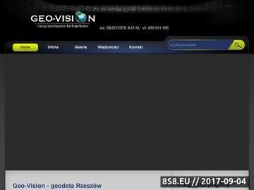 Zrzut strony Geo-Vision - geodeta Rzeszów