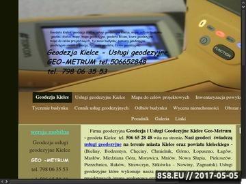 Zrzut strony Usługi geodezyjne i obsługa nieruchomości Geo Metrum Kielce