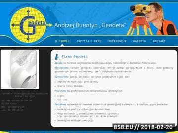 Zrzut strony Andrzej Bursztyn - uslugi geodety