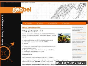 Zrzut strony Geodezja - usługi geodezyjne Wrocław