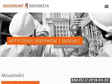 Zrzut strony Geogrunt s.c. - Geodezja Wrocław