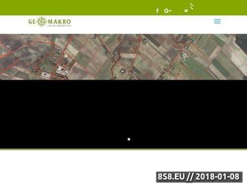 Zrzut strony GeoMakro - geodeta Trouń i Warszawa