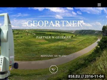 Zrzut strony Mapy geodezyjne - Geopartner
