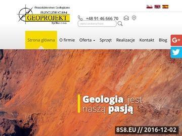 Zrzut strony Geoprojekt Szczecin Spółka z o.o. badanie gruntu