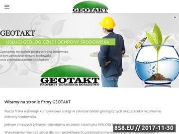 Zrzut strony Gospodarka odpadami GEOTAKT