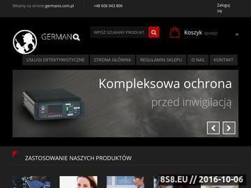 Zrzut strony Germano.pl- podsłuchy, kamery, lokalizatory