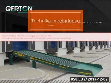 Zrzut strony Firma produkuje pomosty ramp mobilnych i stacjonarnych