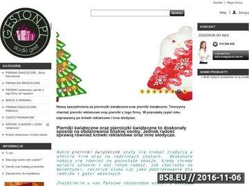 Zrzut strony Pierniki świąteczne oraz pierniki reklamowe