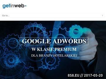 Zrzut strony Get In Web - reklama hoteli