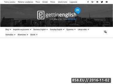 Zrzut strony Darmowe kursy języka angielskiego
