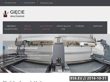 Zrzut strony USM Marcin Zglinicki oferuje plastyczną obróbkę metali CNC