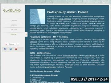Zrzut strony Usługi szklarskie - Glass-land.pl