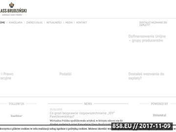 Zrzut strony Kancelaria adwokacka Warszawa - Glass-Brudziński