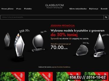 Zrzut strony Glass Custom