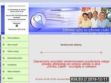 Zrzut strony GABINET DENTYSTYCZNY Ewa Gaś-Szymanowska