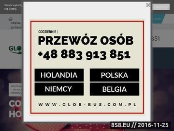 Zrzut strony Przewóz osób do Holandii, Belgii oraz Niemiec