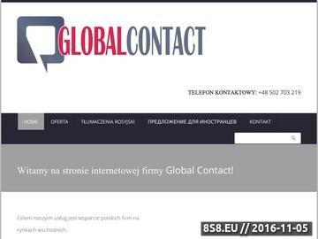 Zrzut strony Eksport, telemarketing oraz mailing