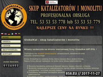 Zrzut strony Katalizatory
