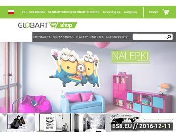 Zrzut strony Plakaty na zamówienie w wysokiej jakości z GlobArt Shop