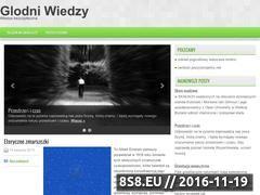 Miniaturka domeny glodni-wiedzy.pl