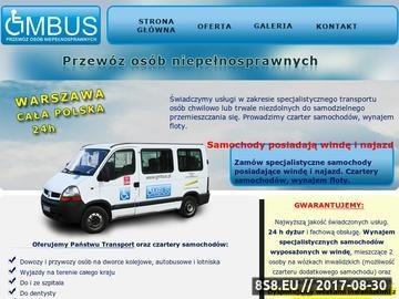 Zrzut strony Przewóz niepełnosprawnych GMBUS