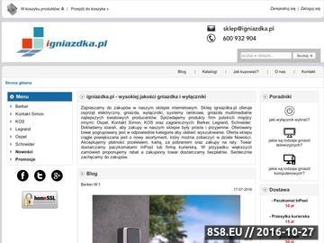 Zrzut strony Internetowa sprzedaż gniazdek elektrycznych i wyłączników