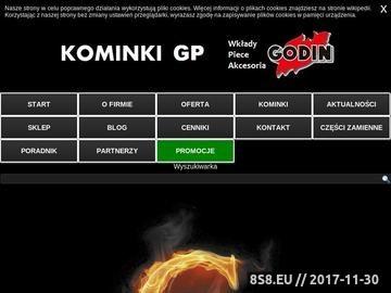 Zrzut strony Kominki Godin Polska