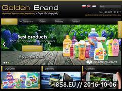 Miniaturka domeny www.goldenbrand.eu
