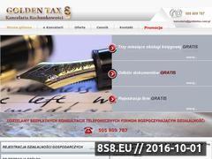 Miniaturka domeny goldentax.com.pl