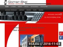 Miniaturka domeny www.gomar-stal.pl