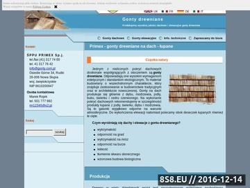 Zrzut strony ŚPPU PRIMEX gonty