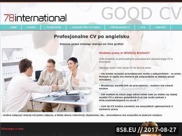 Zrzut strony CV po angielsku