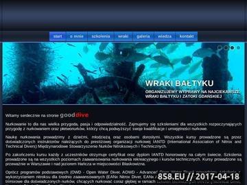 Zrzut strony Gooddive - kursy nurkowania Warszawa