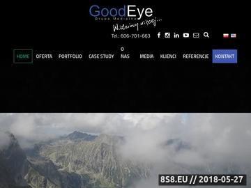 Zrzut strony GoodEye - animacja reklamowa