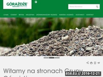 Zrzut strony Najwyższej jakości mieszanki betonowe, cementowe oraz kruszywa