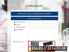 Miniaturka domeny www.gordian.pl
