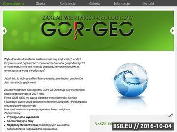 Zrzut strony Studnie głębinowe Podkarpacie - Gor-Geo
